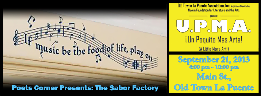 Poets Corner Presents: The Sabor Factory