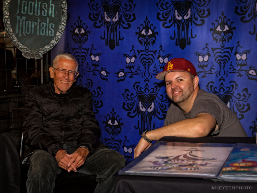Disney Legend Bob Gurr and curator Sam Carter.